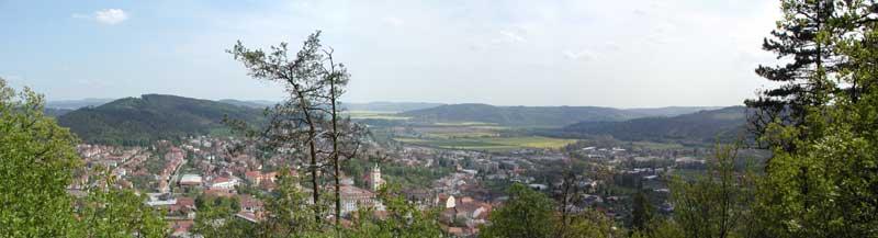 Tisnov - panoramaticky pohled z Kvetnice